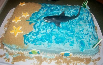 Pin Shark Birthday Cake Sugar High Cakes Custom Decoration ...